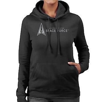 U.S. Space Force Text Alongside Lighter Classic Logo Women's Hooded Sweatshirt