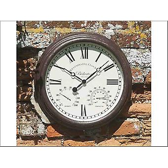 Smart Solar Bickerton Wall Clock + Thermometer 15in 5060001
