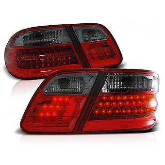 Feux arrière MERCEDES W210 Classe E 95-03 02 RED SMOKE LED