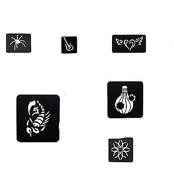 Small Reusable Face, Body Painting Tattoo Stencil Sticker