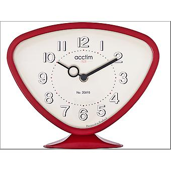 Acctim Putney Table Clock Red 36784