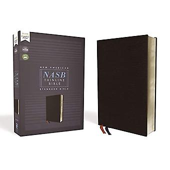 NASB, Thinline Bible, Bonded Leather, Black, Red Letter Edition, 1995 Text, Comfort Print