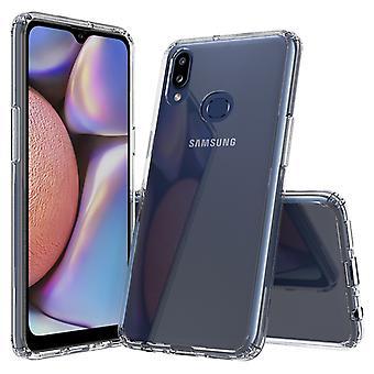 ل Galaxy A10s Scratchproof TPU + ACRYLIC واقية حالة (شفافة)