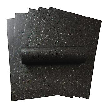 10 Sheets of A4 Iridescent Sparkle Paper Charcoal Black 120gsm
