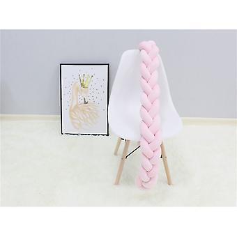 Cojín de almohada de nudo trenza de la cama del parachoques para bebés 1M / 2M / 3M / 4M para cuna protectora bebé cuna parachoques sala decor