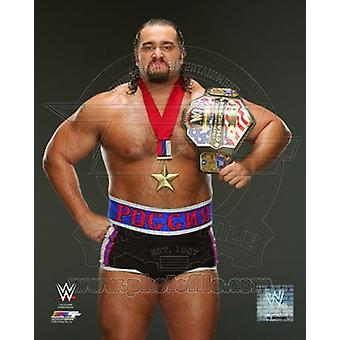 Rusev with Championship Belt 2014 Posed Sports Photo (8 x 10)