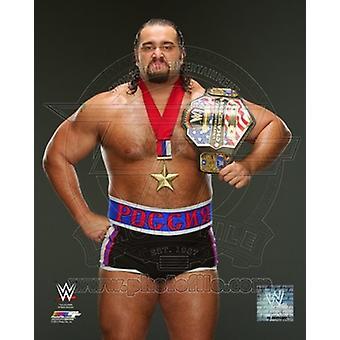 Rusev con cinturón de campeón 2014 plantea deportes foto (8 x 10)