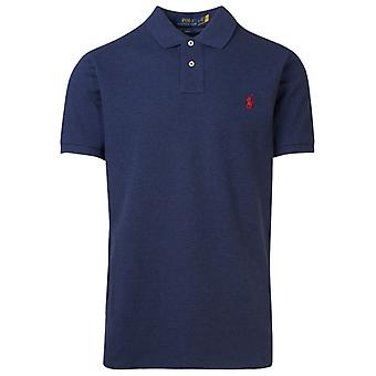 Ralph Lauren 710536856265 Mænd's Blå Bomuld Polo Shirt