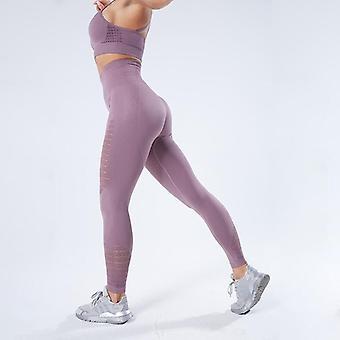 Kvinnor Yoga Byxor Sport Löp sportkläder Stretchig Fitness Leggings Seamless