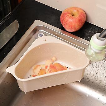 Trojuholníkový drez sitko kanalizácie zeleninové ovocie odkvapkávač Kôš Sacia hubka