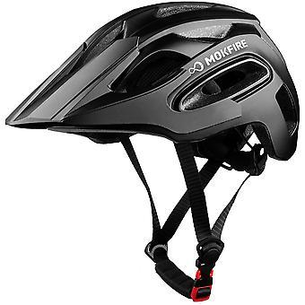 MOKFIRE Bike Helmet for Adults with USB Light & Visor, Bicycle Cycling Helmets
