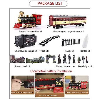 Dynamic Steam Electric Train Toy With Railway Set (a)