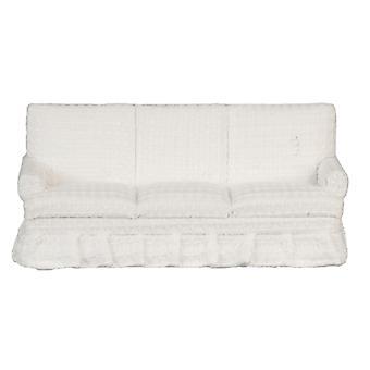 Panenky Dům Krém 3 Sedačková pohovka s sukně miniaturní obývací pokoj nábytek