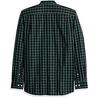 Brand - Goodthreads Men's Standard-Fit Long-Sleeve Plaid Poplin Shirt,...