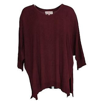 Laurie Felt Mujeres's Suéter sedoso bambú jersey púrpura A385318