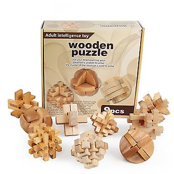 9 In 1 Wooden Puzzles,3d Kongming Lock,wooden Educational Toys