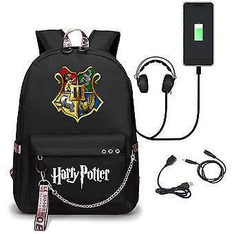 Harry potter backpack USB charging school bag Oxford cloth