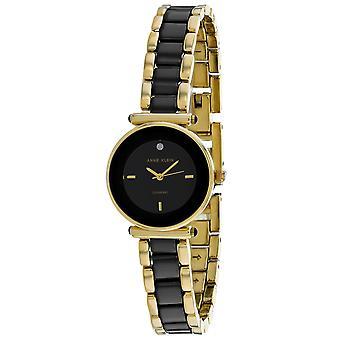 Anne Klein Women's Classic Black Dial Watch - AK-3492BKST