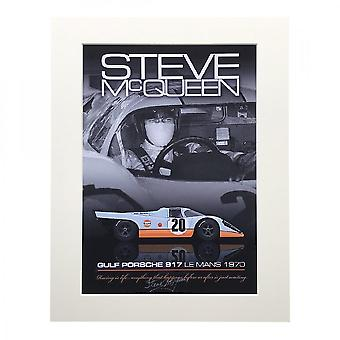 Larrini Mcqueen Driving 917 A4 Mounted Photo