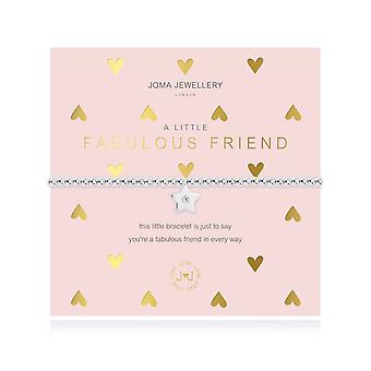 Joma Jewellery A Little Fabulous Friend Silver 17.5cm Stretch Bracelet 4386