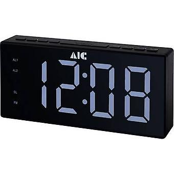 AIC 48XXL Radio réveil FM FM Réveil Noir