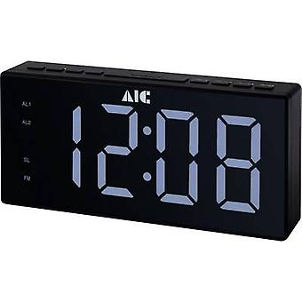 AIC 48XXL Radio despertador FM FM Reloj de alarma Negro