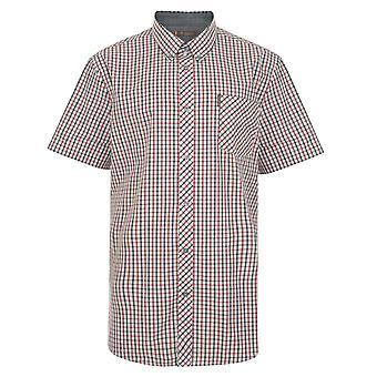 Ben Sherman Contrast Check Short Sleeve Shirt