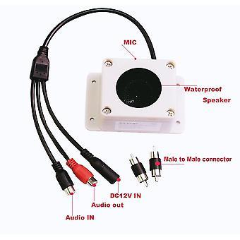 Microfoonluidsprekerapparaat voor beveiligingscamera buiten