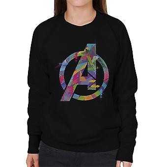 Marvel Avengers A Icon Colourful Splatter Women's Sweatshirt