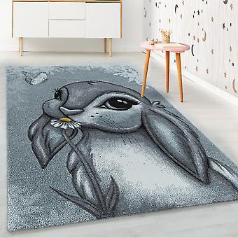 ShortFlor kids alfombra azul conejo diseño vivero alfombra suave