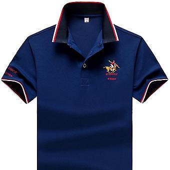 Sommer mænd polo shirt, syntetisk fiber, revers kort ærme, broderet casual