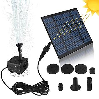 Solar Fountain Watering Kit, Power Solar Pump Pool Pond Waterfall Floating