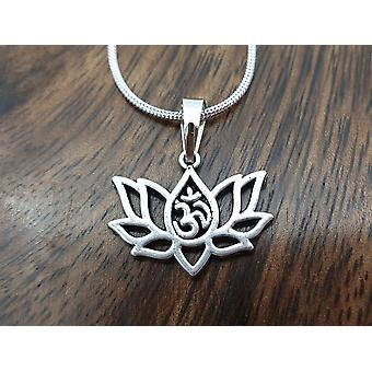 Om Lotus Halsband - Litet Lotus hänge, Silver