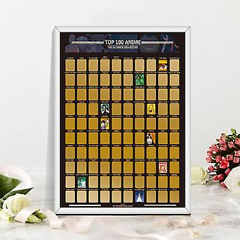 Decoration Home Top 100 Anime Scratch Off Poster/painting