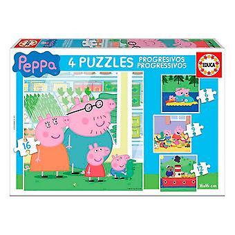 4-Bulmaca Seti Peppa Pig Educa