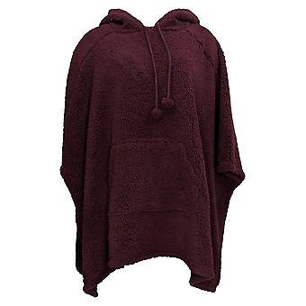 Koolaburra by UGG Women's Sweater Cozy Back Sherpa Poncho Purple A388384