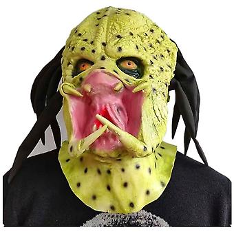 Predator Mask Latex Headgear Horror Halloween Cosplay Props Mask