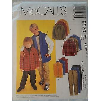 McCalls Naaipatronen 2970 Childs Boys Jas Vest Broek Maat 12 - 16