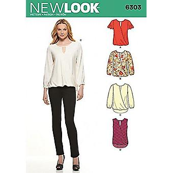 New Look Easy Sewing Pattern 6303 Ladies Drapey Summer Tops Size 8-20