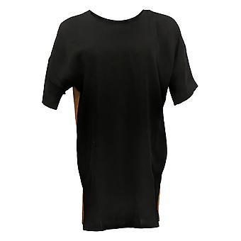 Lisa Rinna Collection Dames's Top Tuniek met korte mouwen Zwart A367990