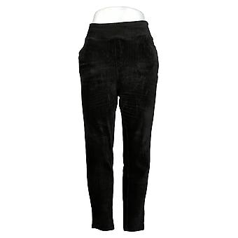 Denim & Co. Women's Pants Regular Smooth Waist Leggings Black A388785