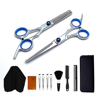 Haircut scissors straight snips thinning hairdressing barber tools lf11