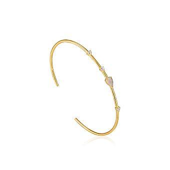 Ania Haie Shiny Gold Midnight Cuff Bangle B026-03G