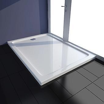 vidaXL Shower Cup ABS Rectangular White 80×110 cm