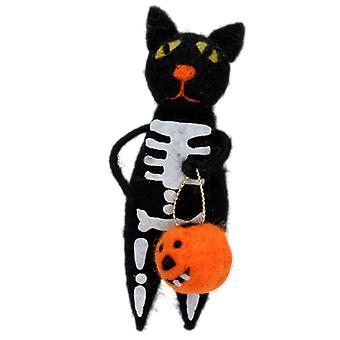 Gisela Graham Halloween esqueleto gato Dec