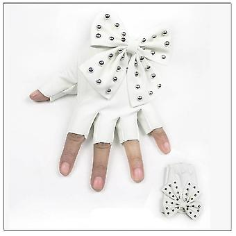 Fashion Fingerless Gloves, Women's Pu Leather Gloves