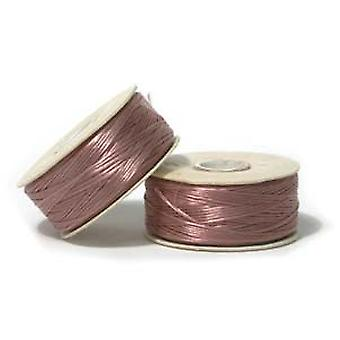 NYMO Nylon Beading Thread Size D for Delica BeadsRose Pink Mauve 64YD (58 Meters)