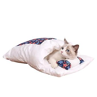 Cat Bed Warm Sleeping Bag with pillow - S, Style04