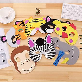 قناع عشوائي عيد ميلاد الطرف اللوازم، إيفا رغوة، أقنعة الغابة حديقة الحيوان الحيوانية، الرسوم المتحركة