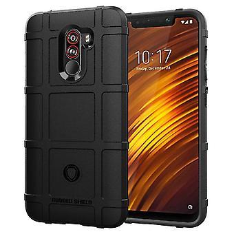 Tpu carbon fibre case for xiaomi pocophone f1 black mfkj-1419